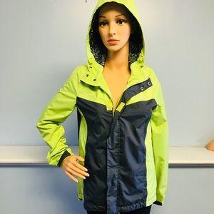 Roxy Women's Extra Small Green Gray Rain Jacket
